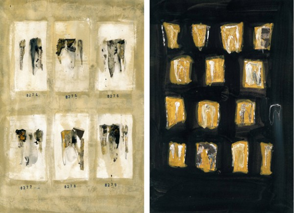 """""""Inventario 8276"""" y """"Arqueología"""". 32,5 x 23 cm."""