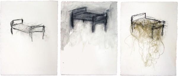 Tres dibujos, 2000. 65 x 50 cm.