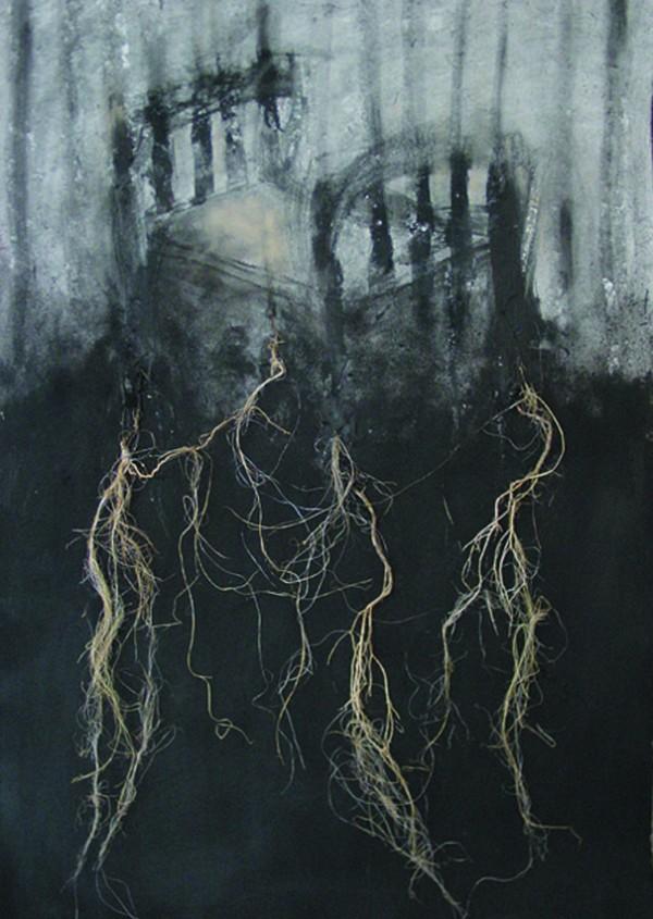 """""""Sobre el abismo"""", 2001. 100 x 70 cm."""