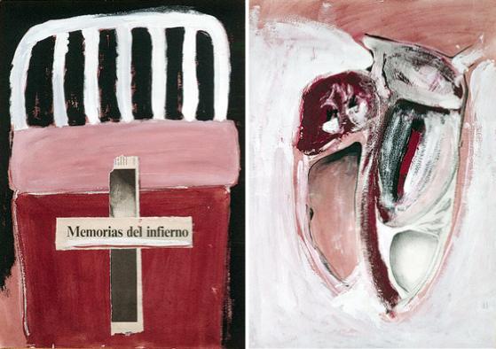"""""""Memorias del infierno"""" y """"Víscera nº 5"""", 46 x 32,5 cm."""