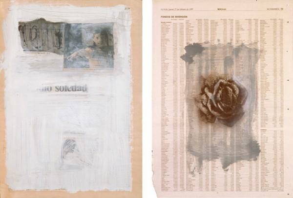 """""""Soledad"""" y """"Fondos de inversión"""", 1997. 41 x 29 cm."""