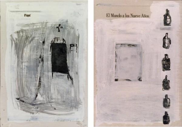 """""""Papá"""" y """"El mundo a los nueve años"""",""""Papá"""" y """"El mundo a los nueve años"""", 1997. 41 x 29 cm."""