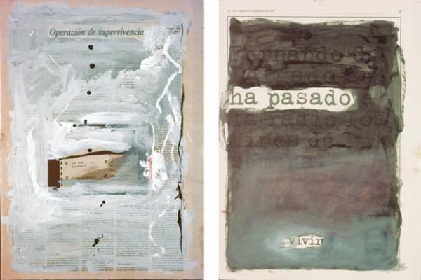 """""""Operación de supervivencia"""" y """"Ya ha pasado"""",1997. 41 x 29 cm."""